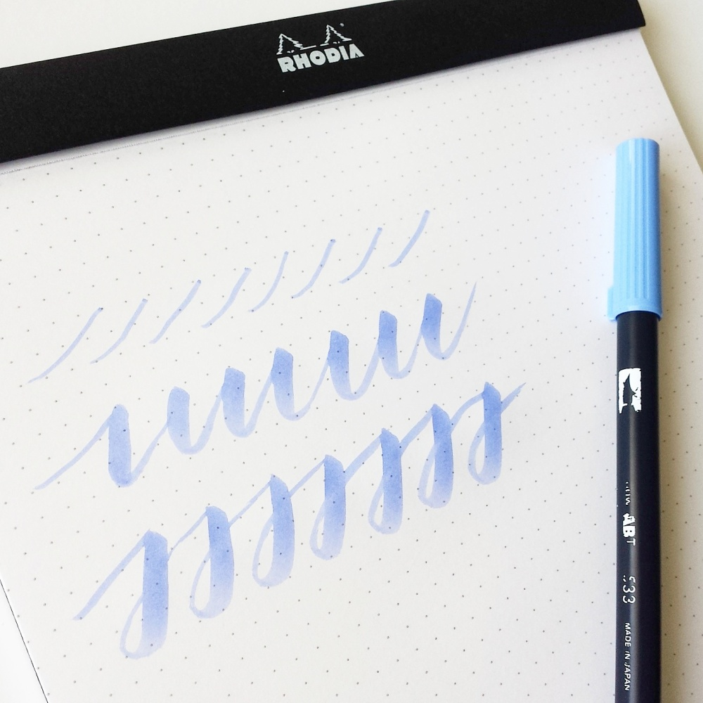 How to use the tombow dual brush pen for calligraphy