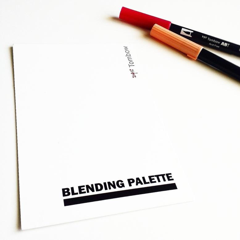 Tombow blending palette