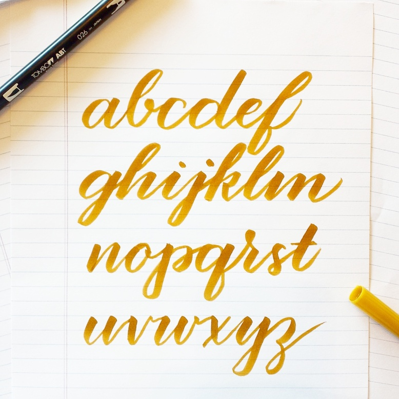 improve brush lettering