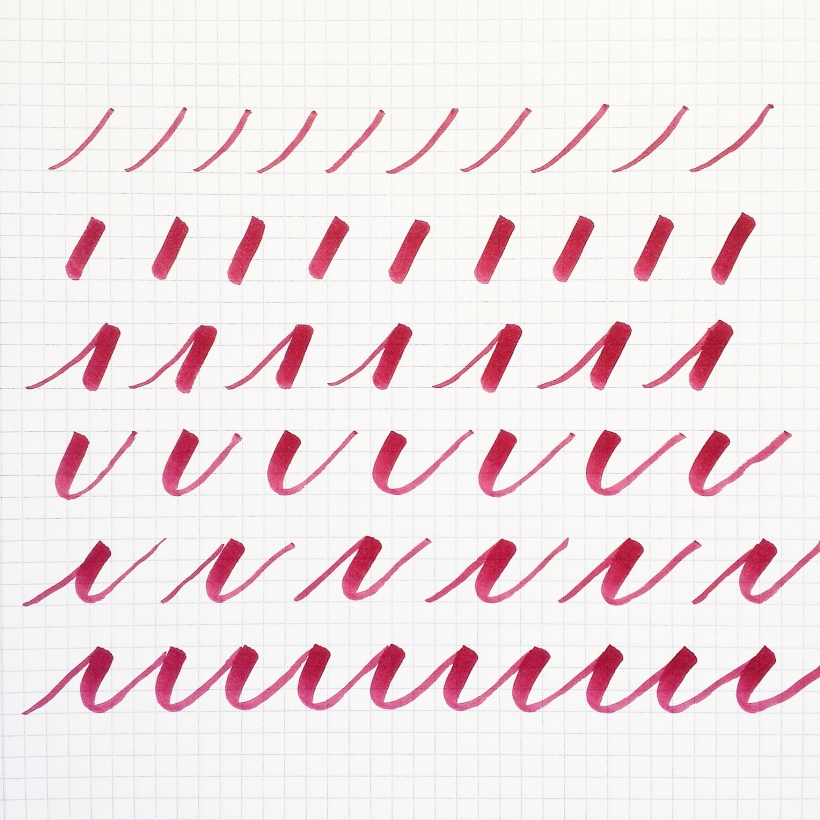 thin to thick strokes