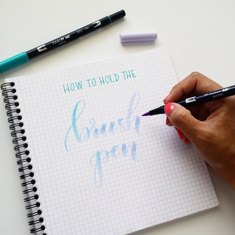 how to hold brush pen
