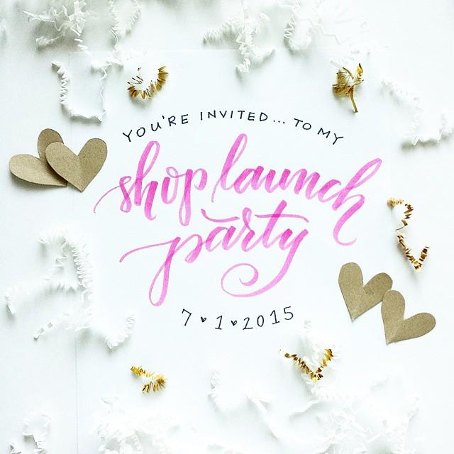 shop launch party announcement