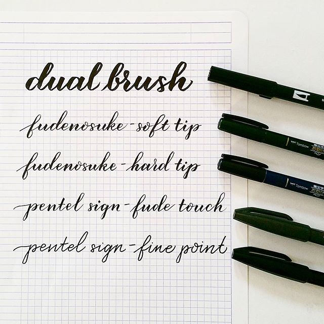 brush pen comparison