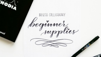 Beginner Supplies For Brush Calligraphy