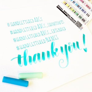 handlettered ABCs thank you