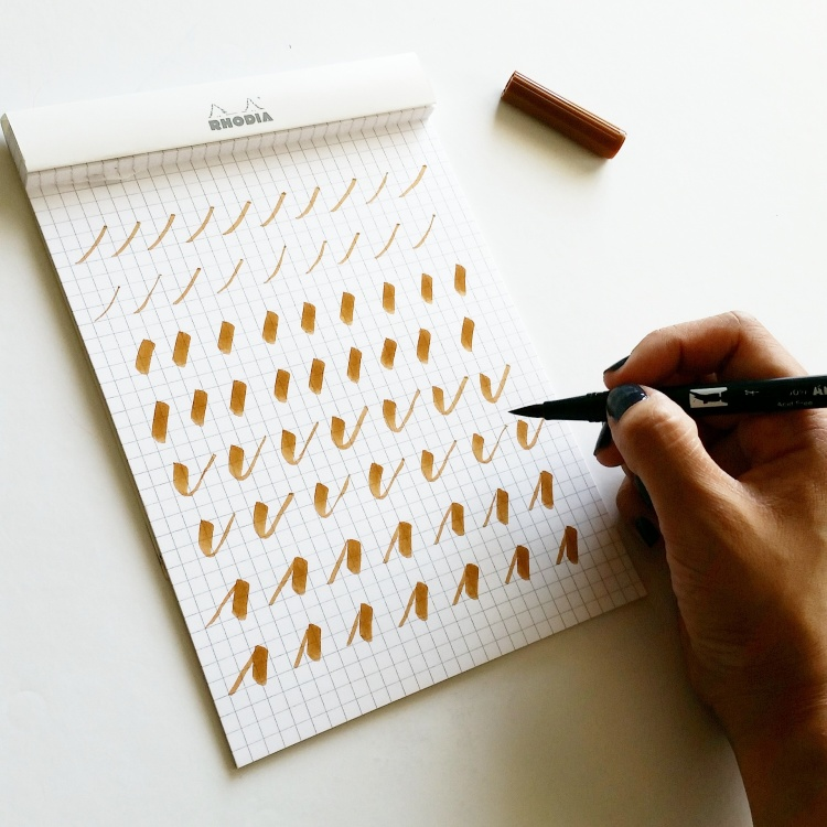 brush calligraphy drills