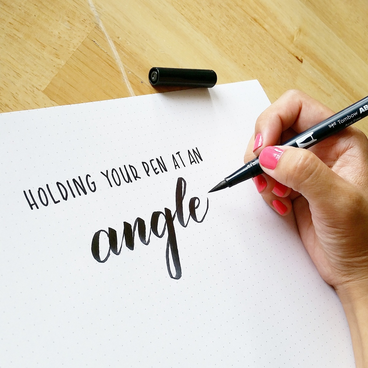 How To Hold Your Brush Pen At An Angle Pieces Calligraphy