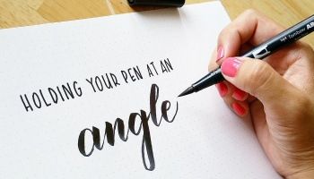 How To Hold Your Brush Pen At An Angle
