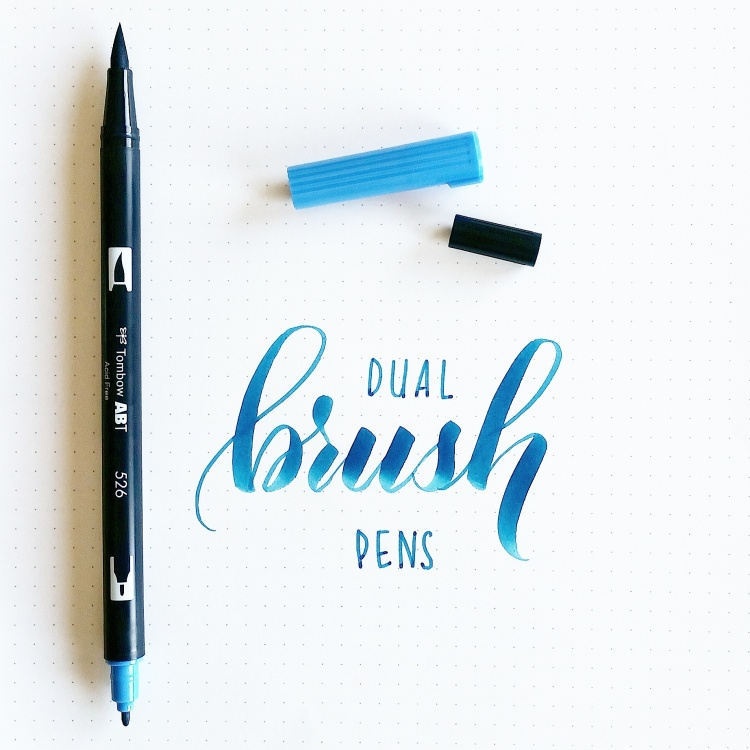 In action: Tombow dual brush pen