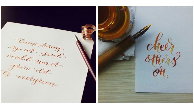 Photo (left) by: Jessie Chen (@inkerellacards); Photo (right) by: Joanna Taguinod (@theinkcodr)
