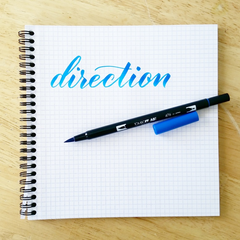 direction your pen is facing