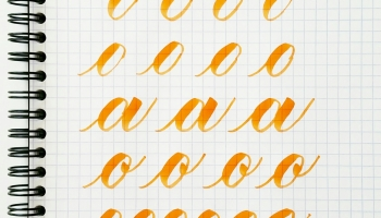Basic Brush Calligraphy Strokes The Oval