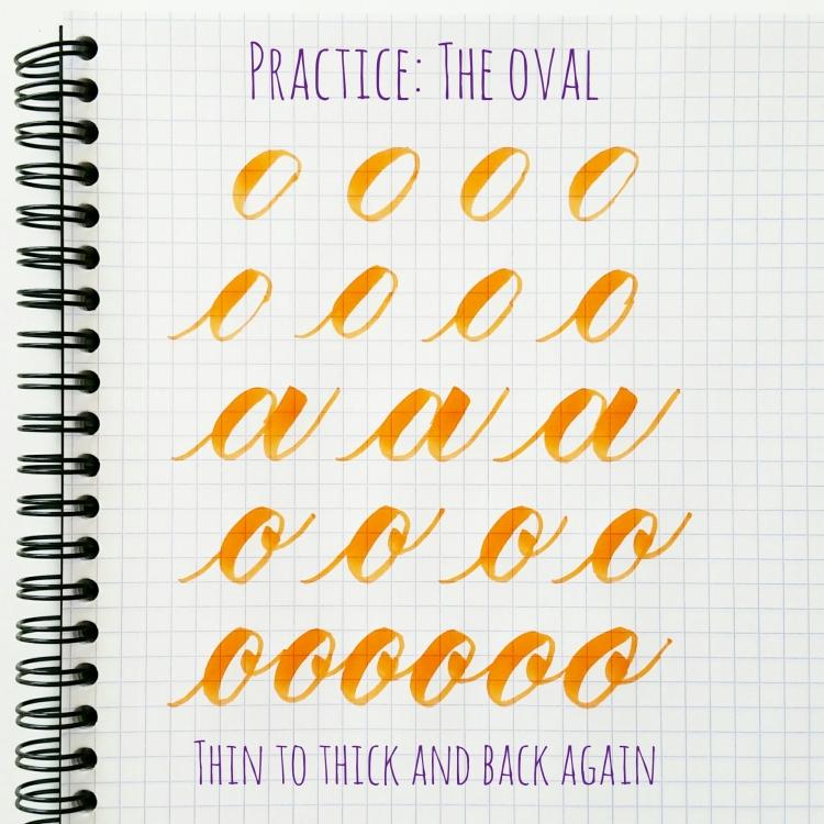 basic strokes: oval