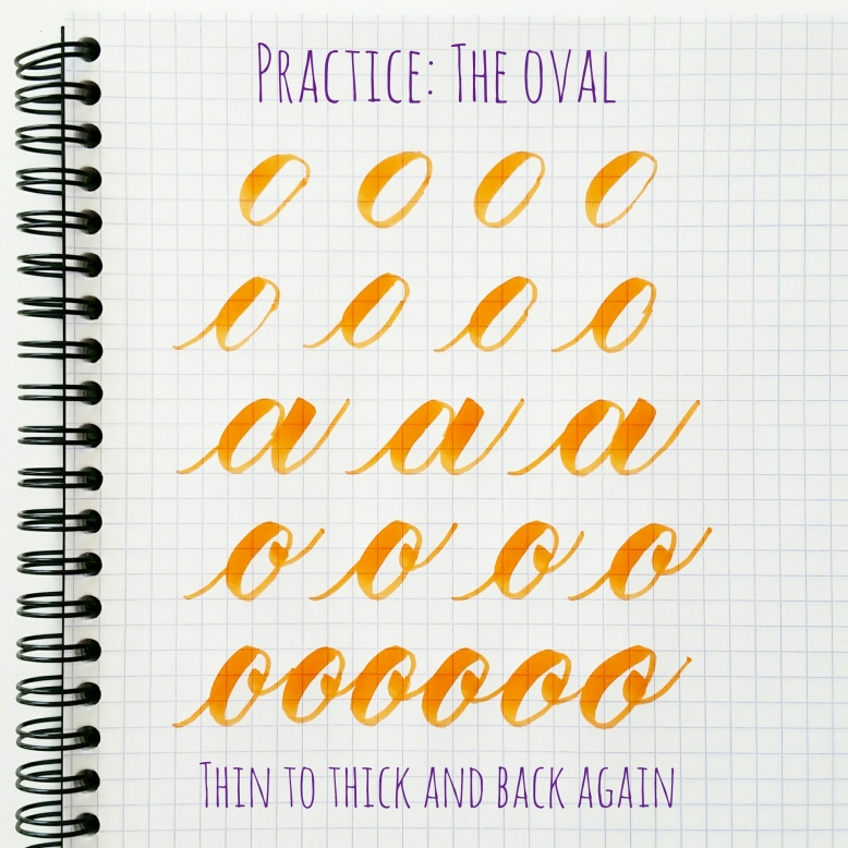basic strokes: oval
