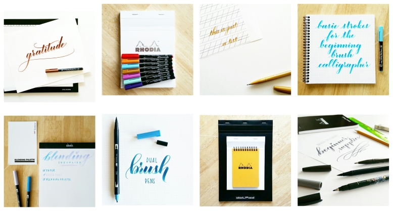 holiday gift idea for the brush calligrapher by pieces