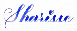 Sharisse signature - pieces calligraphy