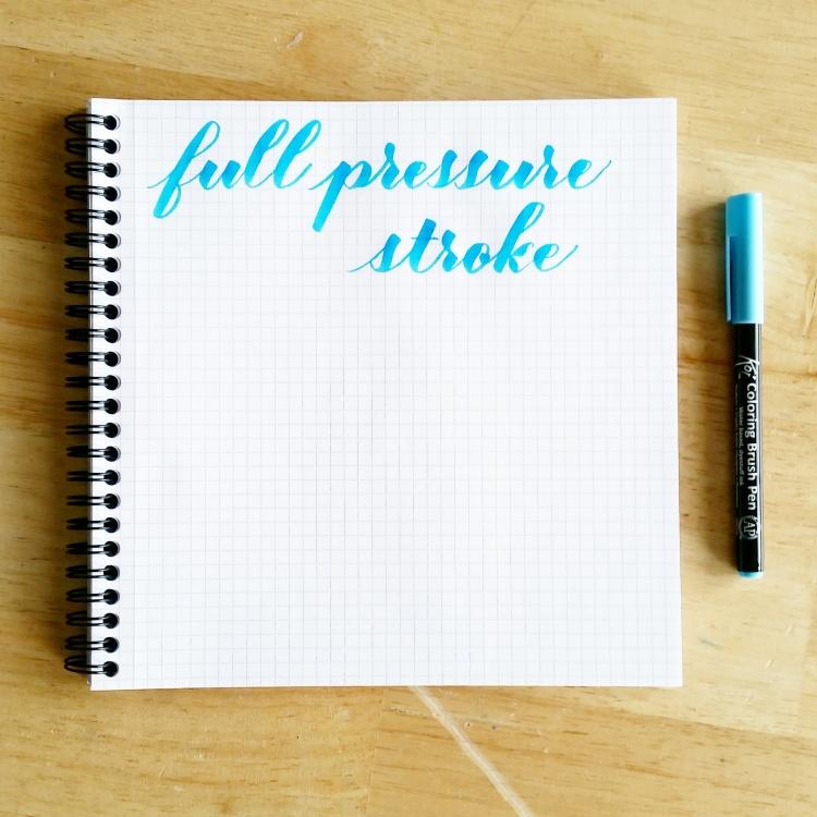 basic strokes: full pressure stroke