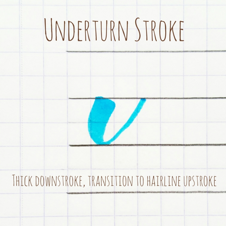 basic strokes: underturn stroke