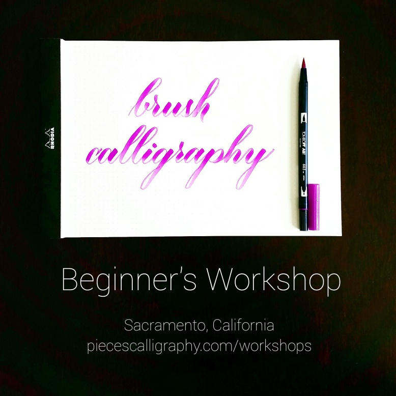 brush calligraphy workshop sacramento california with pieces calligraphy