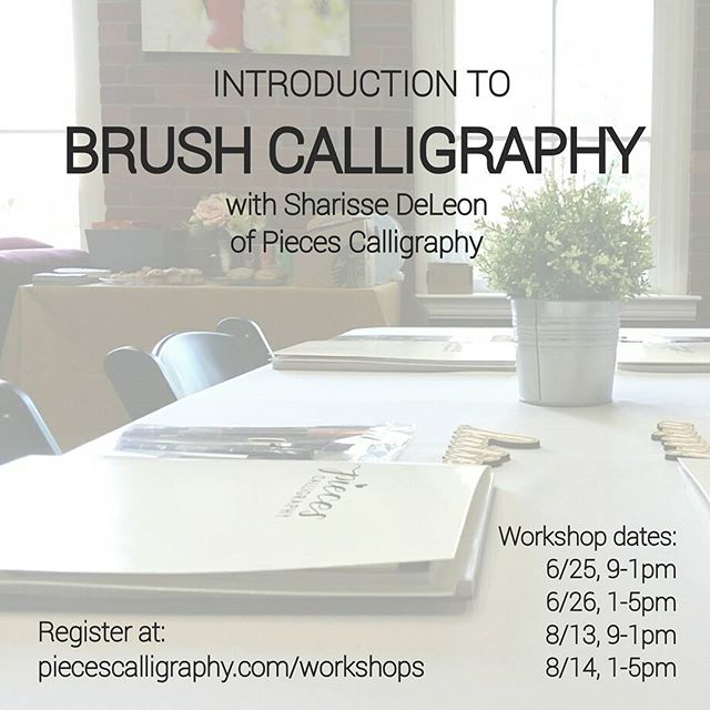 Workshop announcement for Instagram 5-27-16